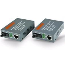 Медиаконвертер NetLink HTB 3100ab WDM 10\100Mbits, одномод, 1310-1350nm, разъем SC, рабочее расстояние до 25км, комплект 1 пара