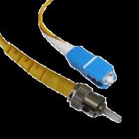 SC/UPC-ST/UPC SM Simplex 3мм патч-корд --1м
